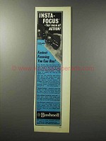 1970 Bushnell Binoculars Ad - Insta-Focus for Action