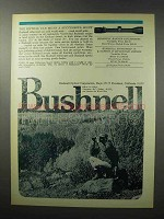 1970 Bushnell Riflescopes Ad - A Successful Hunt
