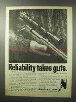 1970 Bausch & Lomb Scope Ad - Reliability Takes Guts