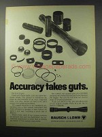 1970 Bausch & Lomb Scope Ad - Accuracy