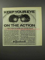 1970 Bushnell Binoculars Ad - Keep Eye on the Action