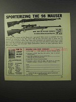 1970 Williams Gun Sight Ad - Sporterizing 98 Mauser