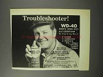 1970 Rocket Chemical WD-40 Spray Ad - Troubleshooter
