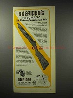 1969 Sheridan All-American Pneumatic Rifle Ad