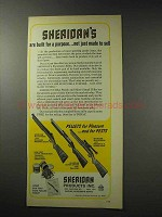 1969 Sheridan All-American Pneumatic Rifle Ad - Purpose