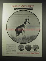 1969 Redfield Scopes Ad - Built-in Accuracy