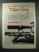 1969 Redfield Scopes Ad - 15-60x Spotting, 3200 Target
