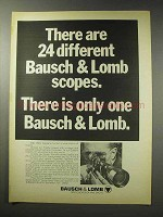 1969 Bausch & Lomb Scope Ad - 24 Different Scopes