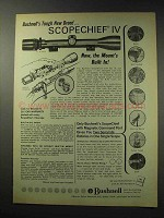 1969 Bushnell Scopechief IV Series Scope Ad - Tough