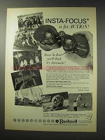 1969 Bushnell Binoculars Ad - Insta-Focus for Action
