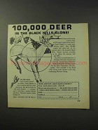 1969 South Dakota Tourism Ad - 100,000 Deer