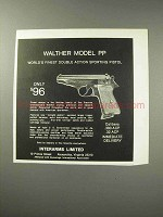 1969 Interarms Walther Model PP Pistol Ad