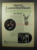1968 Bear Archery Ad - Learn Secrets of Hunting