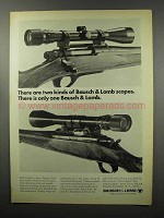 1968 Bausch & Lomb Scopes Ad - Two Kinds