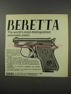 1968 Beretta Jetfire 25 Pistol Ad - Most Distinguished