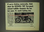 1968 Hodaka 100 Motorcycle Ad - Trailbike Champion