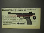 1968 Hammerli-Single .177 Match Pistol Ad - Year Round