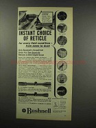 1967 Bushnell ScopeChief II Scope Ad, Choice of Reticle