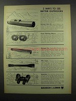 1967 Bausch & Lomb Ad - Balscope Ten, Rifle Scopes +