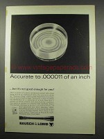 1967 Bausch & Lomb Scopes Ad - Accurate to .000011 Inch
