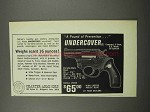 1967 Charter Arms Undercover Revolver Ad