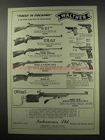 1966 Walther Ad - KKJ, A, UIT, PPK, PP, P 38, OSP, KKM