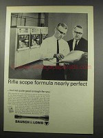 1966 Bausch & Lomb Scopes Ad - Rifle Scope Formula