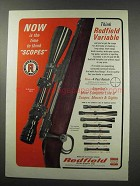 1966 Redfield Scopes Ad - Now is The Time To Think