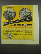 1966 Weaver K6 Scope Ad - For Big Game or Varmints