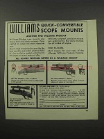 1966 Williams Gun Sight Ad - Quick-Convertible Mounts
