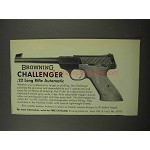 1966 Browning Challenger .22 Long Rifle Pistol Ad