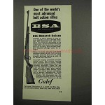 1966 BSA Monarch Deluxe Rifle Ad - Advanced Bolt Action