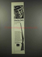 1965 Charles Daly Shotgun Ad - Fires a Challenge