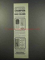 1965 Federal Shotgun Shells Ad - Champion Wad Column