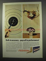 1965 Federal Cartridge Ad - Pays Off in Performance