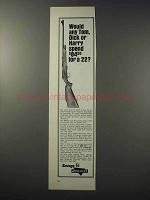 1965 Savage / Anschutz 141 Rifle Ad - Tom, Dick Harry