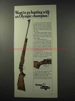 1965 Savage / Anschutz 153 Rifle Ad - Olympic Champion