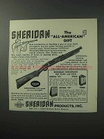 1965 Sheridan Pneumatic Rifle Ad - All-American Gift