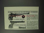 1965 Hammerli Free Pistol and International Pistols Ad