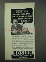 1965 Nosler Partition Bullets Ad - The Finest Available