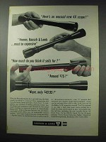 1964 Bausch & Lomb Balfor A 4x Scope Ad - Unusual