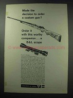 1964 Bausch & Lomb Balfor A Scope Ad - Custom Gun