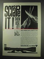 1964 Bausch & Lomb Scopes Ad - Scrape It!