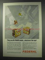 1964 Federal Hi-Power Shotgun Shells Ad - Hi-Power