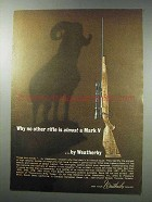 1964 Weatherby Mark V Rifle Ad - No Other Rifle