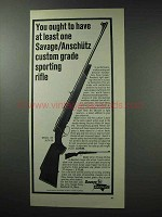 1964 Savage /  Anschutz Model 153 Rifle Ad - Sporting