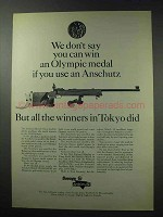 1964 Savage / Anschutz Match 54 Rifle Ad - Olympic