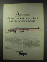 1964 Savage / Anschutz Match 54 Rifle Ad - Association