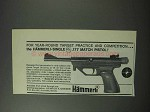 1964 Hammerli Single .177 Match Pistol Ad - Year Round
