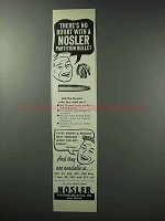 1963 Nosler Bullets Ad - There's No Doubt With
